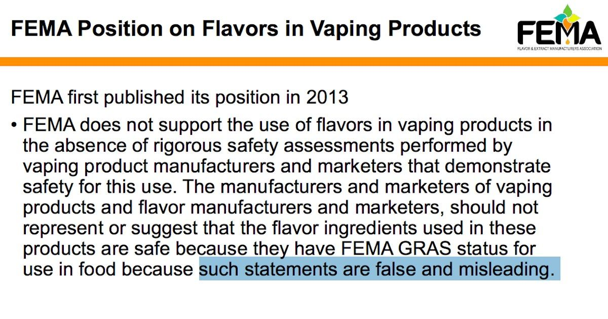 False-and-misleading-to-suggest-vape-flavor-safety-FEMA-2020.jpg
